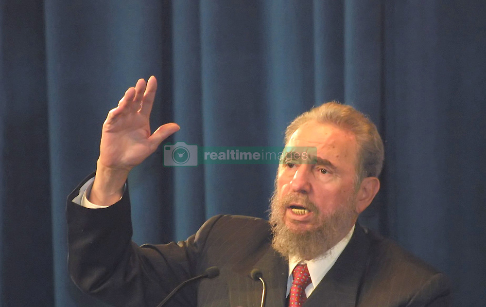 Cuban President Fidel Castro during his visit to Iran on May 2001. Cuban President Fidel Castro said Monday he underwent surgery and temporarily handed power to his brother, Raul. PHOTO BY PARSPIX/ABACAPRESS  | 102840_07 Teheran Tehran Iran