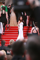 Eva Longoria on the red steps at the Saint-laurent gala screening red carpet at the 67th Cannes Film Festival France. Saturday 17th May 2014 in Cannes Film Festival, France.