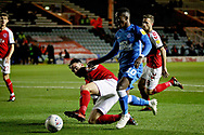 Peterborough United midfielder Siriki Dembele (10) drives into the box during the EFL Sky Bet League 1 match between Peterborough United and Accrington Stanley at London Road, Peterborough, England on 20 October 2018.