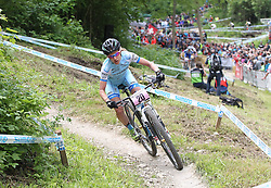 01.06.2014, Bullentaele, Albstadt, GER, UCI Mountain Bike World Cup, Cross Country Damen, im Bild Adelheid Morath Deutschland // during Womens Cross Country Race of UCI Mountainbike Worldcup at the Bullentaele in Albstadt, Germany on 2014/06/01. EXPA Pictures © 2014, PhotoCredit: EXPA/ Eibner-Pressefoto/ Langer<br /> <br /> *****ATTENTION - OUT of GER*****