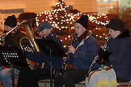 Pine Bush, NY - Members of the Pine Bush Community Band Holiday Ensemble perform holiday songs at the Pine Bush Festival of Lights celebration on the evening of Dec. 1, 2008.