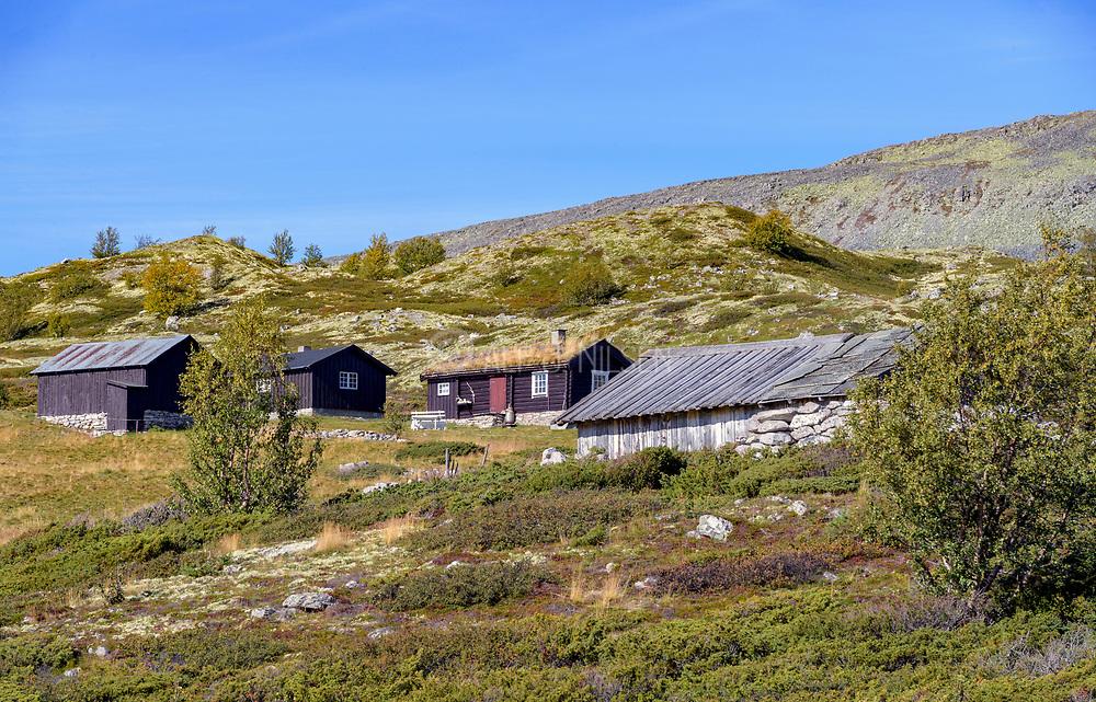 Haverdalsseter north in Rondane National Prak (Innlandet, Norway).