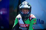 Tommy Searle pre-focusing before the race. He is another very special rider.