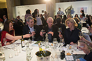 DENISE HOOKER; EDMUND DE WAAL, RICHARD LONG and NADJA SWAROVSKI  at the Whitechapel Gallery Art Icon 2015 Gala dinner supported by the Swarovski Foundation. The Banking Hall, Cornhill, London. 19 March 2015