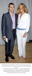 MR & MRS PAUL STEWART, he is the son of racing driver Jackie Stewart, at a party in London on 28th May 2002.PAL 4