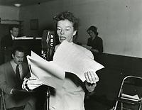 1938 Katherine Hepburn at NBC Radio City