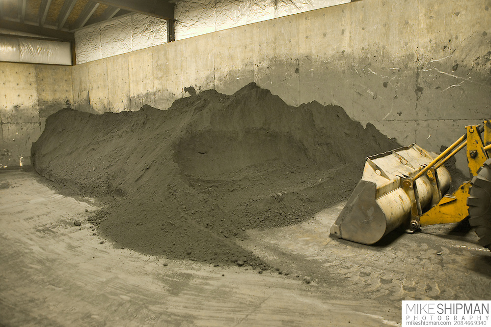 Finely crushed Lead/silver concentrate waiting to be processed to remove the silver