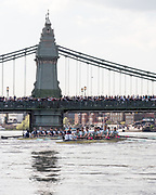 Mortlake/Chiswick, GREATER LONDON. United Kingdom. 2017 Men's Boat Race winners OUBC held over,The Championship Course, Putney to Mortlake on the River Thames.<br /> <br /> Crew: Oxford, Bow: William Warr, 2: Matthew O'Leary – USA, 3: Oliver Cook, 4: Joshua Bugaski, 5: Olivier Siegelaar – NED, 6: Michael DiSanto – USA, 7: James Cook, Stroke: Vassilis Ragoussis, Cox: Sam Collier <br /> <br /> Cambridge; Bow: Ben Ruble – USA, 2: Freddie Davidson, 3: James Letten – USA., 4: Tim Tracey – USA., 5: Aleksander Malowany –CAN., 6: Patrick Eble – USA, 7: Lance Tredell, Stroke: Henry Meek and Cox: Hugo Ramambason – <br /> <br /> <br /> Sunday  02/04/2017<br /> <br /> [Mandatory Credit; Intersport Images]