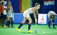 BOOM -  Willemijn Bos tijdens shoot out bij de halve finale van het EK hockey tussen de vrouwen van Nederland en Engeland (1-1) . Engeland wint na shoot out.  ANP KOEN SUYK