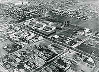 1926 Aerial of Hollywood Studios on Santa Monica Blvd.
