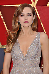 Zoey Deutch walking on the red carpet during the 90th Academy Awards ceremony, presented by the Academy of Motion Picture Arts and Sciences, held at the Dolby Theatre in Hollywood, California on March 4, 2018. (Photo by Sthanlee Mirador/Sipa USA)
