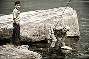Future fly fisherman.