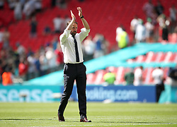 England manager Gareth Southgate applauds the fans after the UEFA Euro 2020 Group D match at Wembley Stadium, London. Picture date: Sunday June 13, 2021.