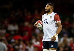 Lewis Ludlam of England during the pre match warm up<br /> <br /> Photographer Simon King/Replay Images<br /> <br /> Friendly - Wales v England - Saturday 17th August 2019 - Principality Stadium - Cardiff<br /> <br /> World Copyright © Replay Images . All rights reserved. info@replayimages.co.uk - http://replayimages.co.uk