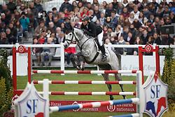 Klimke Ingrid, (GER), Weisse Duene<br /> Jumping 6 years of age<br /> Mondial du Lion - Le Lion d'Angers 2015<br /> © Dirk Caremans<br /> 18/10/15