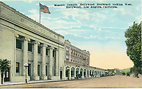 1924 Postcard of the Masonic Temple on Hollywood Blvd.