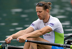 Luka Spik during finals at Rowing World Cup  on May 30, 2010, at Bled's lake, Bled, Slovenia. (Photo by Vid Ponikvar / Sportida)