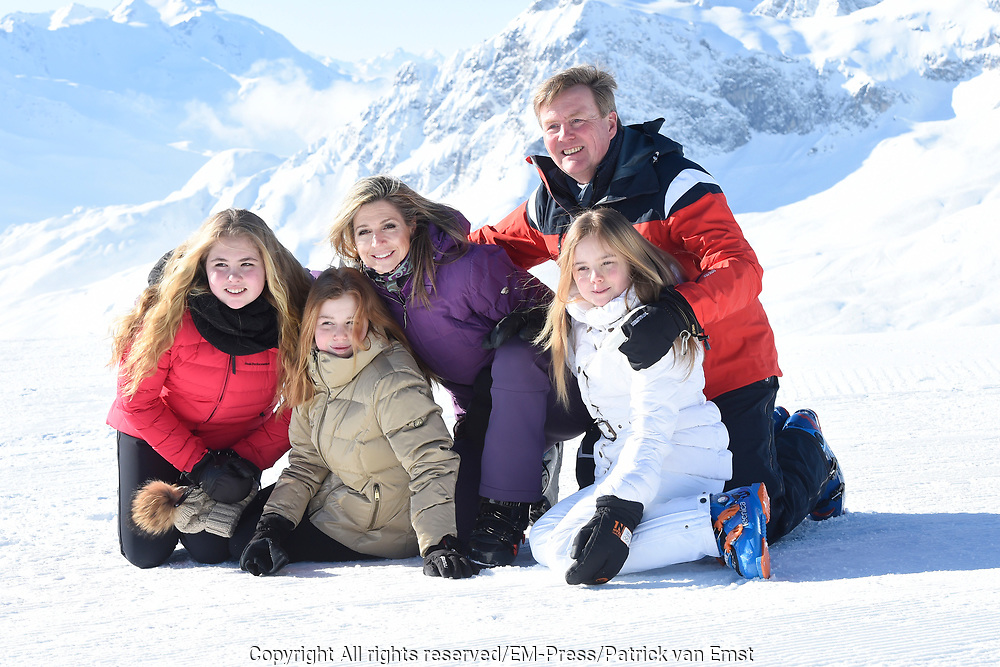 Fotosessie met de koninklijke familie in Lech /// Photoshoot with the Dutch royal family in Lech .<br /> <br /> Op de foto/ On the photo:  Koningin Maxima, Koning Willem Alexander, Prinses Amalia, Prinses Alexia en Prinses Ariane ///// Queen Maxima, King Willem Alexander, Princess Amalia, Princess Alexia and Princess Ariane