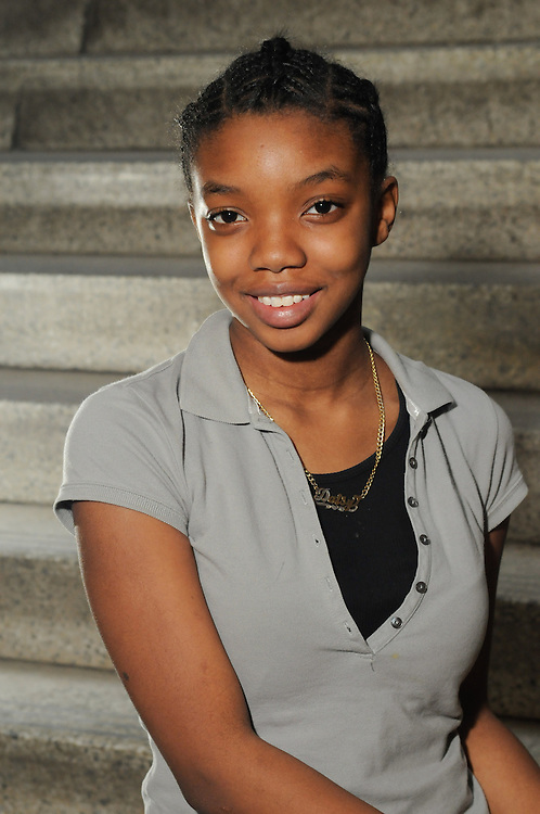A Citizen Schools Student's headshot for Bridging Magazine.