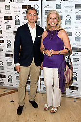 © Licensed to London News Pictures. 16/09/2016. DIMA CAMPBELL and LADY COLIN CAMPBELL attend the Kolchagov Barba SS 17 fashion show during London Fashion Week.  London, UK. Photo credit: Ray Tang/LNP