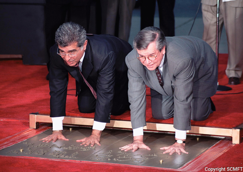 1999 Robert Daly and Terry Semel's hand/footprint ceremony at the Chinese Theater