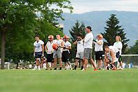 KELOWNA, BC - MAY 10:  Okanagan Sun Main Training camp at the Apple Bowl on July 12, 2019 in Kelowna, Canada. (Photo by Marissa Baecker/Shoot the Breeze)