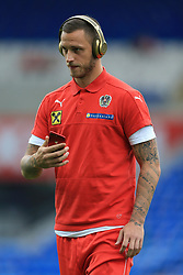 2nd September 2017 - 2018 FIFA World Cup Qualifying (Group D) - Wales v Austria - Marko Arnautovic of Austria wears a large pair of gold Beats headphones before the game - Photo: Simon Stacpoole / Offside.