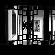 China - March 21, 2009 - A silhouette of detailed workmanship seen during a heritage home tour in China.<br /> <br /> Image: © Rod Mountain<br /> <br /> www.rodmountain.com