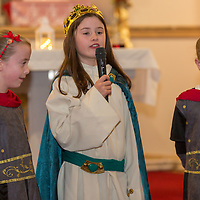 Leah O'Connell, Lucy Norton and Ellen O'Connell acting in the Nativity Play at Barefield Church