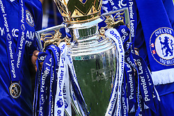 21 May 2017 - Premier League - Chelsea v Sunderland - The Premier League trophy draped in the colours of Chelsea football club - Photo: Marc Atkins / Offside.