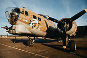 """Collings Foundation B-17G Flying Fortress """"Nine O Nine"""" at McNary Field."""