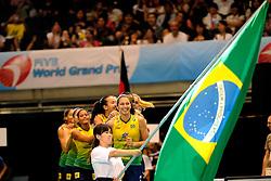 23-08-2009 VOLLEYBAL: WGP FINALS CEREMONY: TOKYO <br /> Brazilie met oa. Danielle Lins wint de World Grand Prix 2009<br /> ©2009-WWW.FOTOHOOGENDOORN.NL