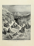 Crusaders crossing the Taurus Mountains [Turkey] Plate XVII from the book Story of the crusades. with a magnificent gallery of one hundred full-page engravings by the world-renowned artist, Gustave Doré [Gustave Dore] by Boyd, James P. (James Penny), 1836-1910. Published in Philadelphia 1892