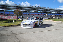 November 1, 2018 - Fort Worth, TX, U.S. - FORT WORTH, TX - NOVEMBER 01: NASCAR Camping World Truck Series driver Austin Hill (02) drives to the garage during practice for the NASCAR Camping World Truck Series JAG Metals 350 on November 1, 2018 at Texas Motor Speedway in Fort Worth, TX. (Photo by George Walker/Icon Sportswire) (Credit Image: © George Walker/Icon SMI via ZUMA Press)
