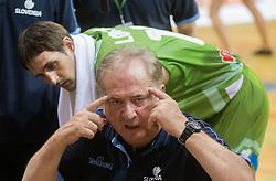 Bozidar Maljkovic, head coach of Slovenia during friendly match between National teams of Slovenia and Republic of Macedonia for Eurobasket 2013 on July 28, 2013 in Litija, Slovenia. (Photo by Vid Ponikvar / Sportida.com)