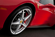 Image of a red Ferrari 458 Spider sports car detail near Seattle, Washington, Pacific Northwest by Randy Wells