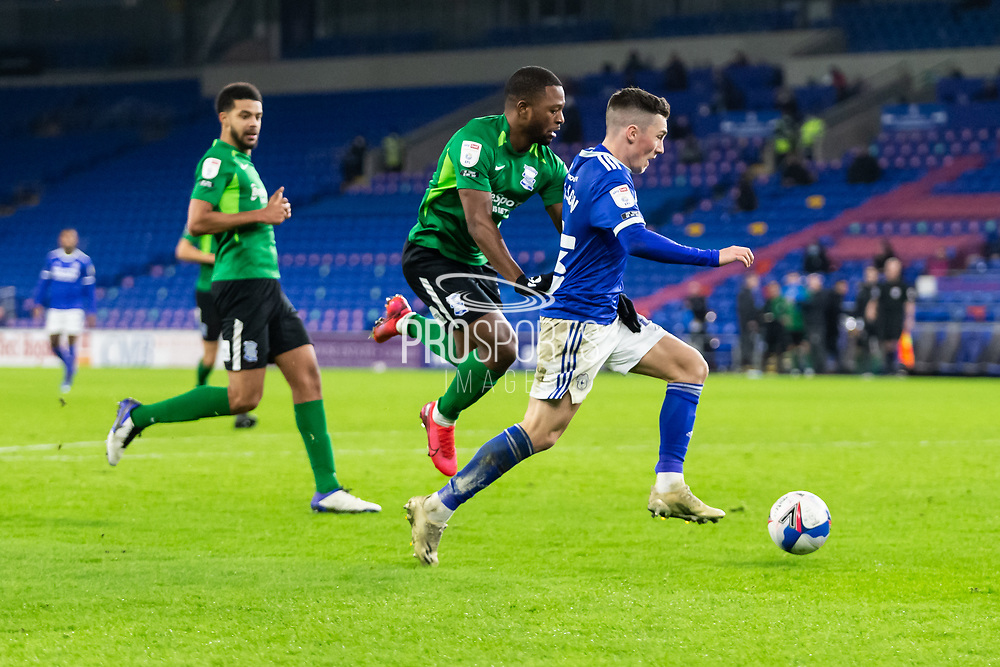 Cardiff City's Harry Wilson (23) dribbles towards goal during the EFL Sky Bet Championship match between Cardiff City and Birmingham City at the Cardiff City Stadium, Cardiff, Wales on 16 December 2020.