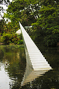 Diminish and Ascend sculpture by David McCracken at the Botanic Gardens, Christchurch, Canterbury, South Island, New Zealand