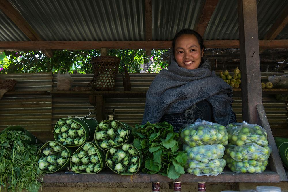 Rural vegetable market<br /> Nagaland,  ne India