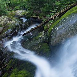 A waterfall on Dowsville Brook in Duxbury, Vermont.