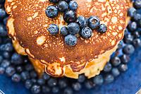 Blueberry buttermilk pancakes.