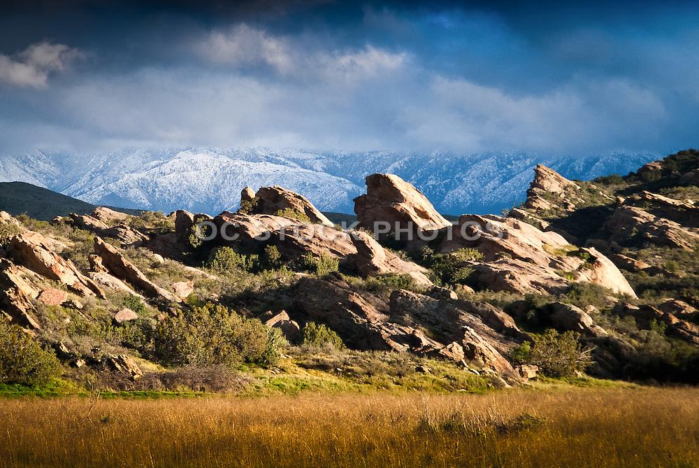 Vasquez Rocks With Snow