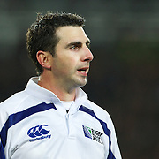 Referee Craig Joubert, South Africa, in action during the New Zealand V Australia Semi Final match at the IRB Rugby World Cup tournament, Eden Park, Auckland, New Zealand, 16th October 2011. Photo Tim Clayton...