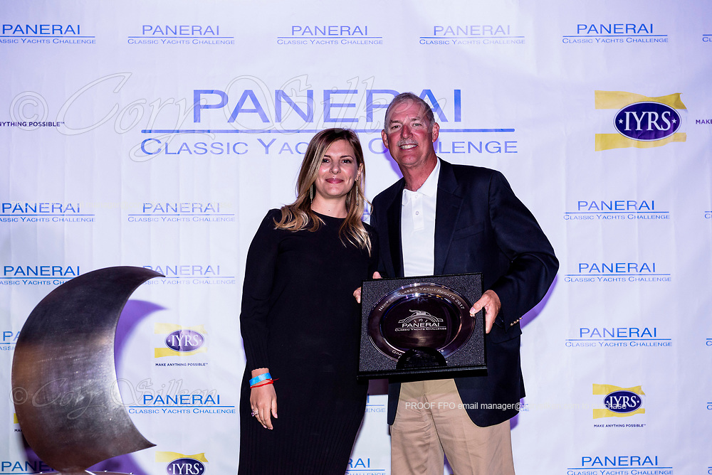 Panerai trophy for team Valiant at the Newport Classic Yacht Regatta.