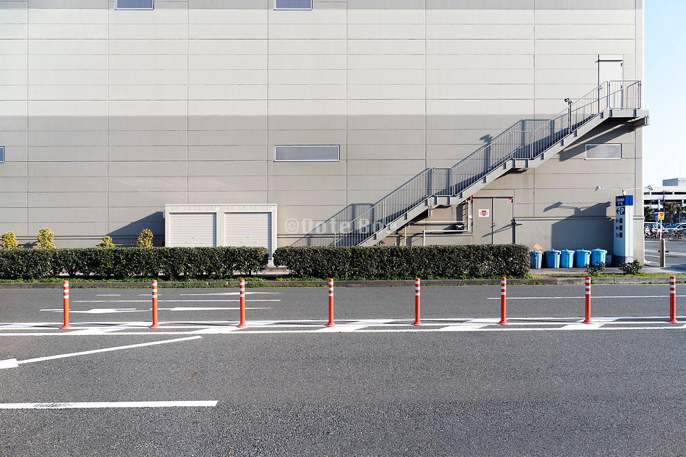 side view of a very large warehouse building Yokosuka Japan