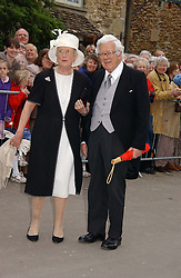 LORD & LADY HOWE at the wedding of Laura parper Bowles to Harry Lopes held at Lacock, Wiltshire on 6th May 2006.<br /><br />NON EXCLUSIVE - WORLD RIGHTS