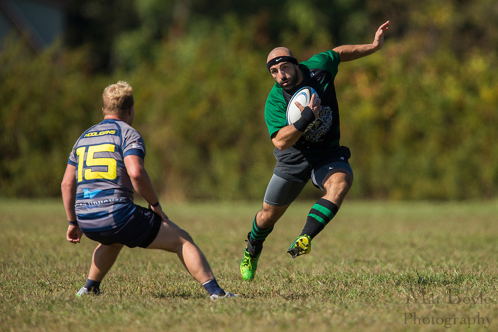 South Jersey Devils Rugby Football Club hosts Lehigh Valley Hooligans at Garden State Rotary Complex in Cherry Hill, NJ on Saturday October 10, 2015. (photo / Mat Boyle)