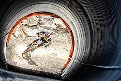 14.06.2014, Bike Park, Leogang, AUT, UCI, Mountainbike Weltcup, Leogang, Downhill, Herren, im Bild Remi Thirion (FRA) // during Mens Downhill of UCI Mountainbike Worldcup at the Bikepark, Leogang, Austria on 2014/06/14. EXPA Pictures © 2014, PhotoCredit: EXPA/ JFK