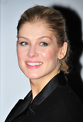 © Licensed to London News Pictures. 10/02/2012. London, England. Rosamund Pike attends a private dinner ahead of sundays Bafta awards hosted by William Banks-Blaney of WilliamVintage and actress Gillian Anderson at St Pancras Renaissance Hotel London  Photo credit : ALAN ROXBOROUGH/LNP