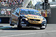 Jim Beam Racing's Steven Jonhson  in action during Qualifying for Race 5 of the ITM 400 Hamilton,Hamilton Street Circuit, Day Two, Hamilton City ,V8 supercars,, Photo: Dion Mellow / photosport.co.nz
